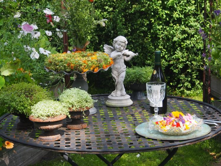 Dekoration, frokost, indsamling af frø og blomster, alt sammen ...